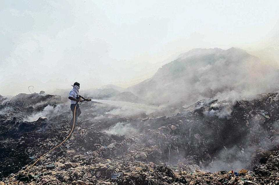Garbage Mountains in India