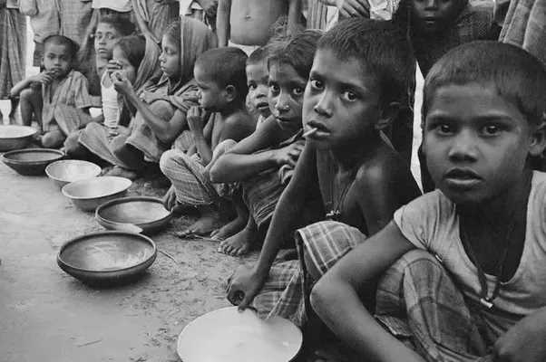 Starving folks…! But we are busy being proud of self-sufficient food nation..!
