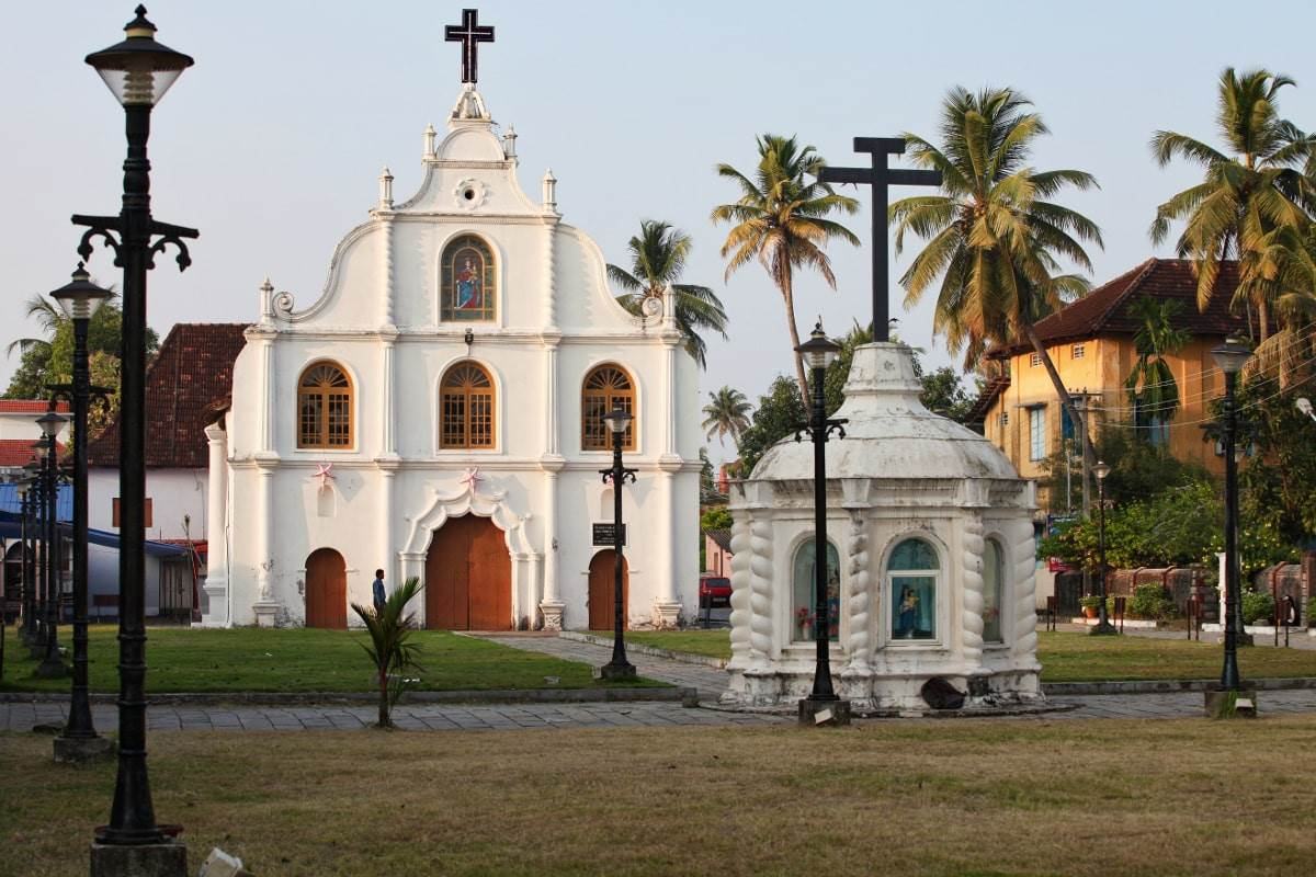 Which church was built by Vasco Da Gama in India