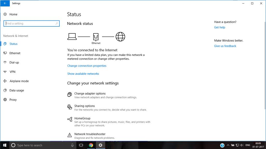 Windows 10 Update error – Why I Can't see the WIFI option?