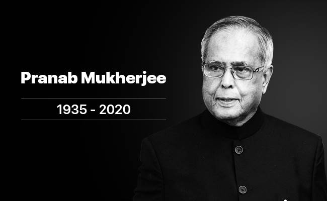 Former President of India Pranab Mukherjee dies