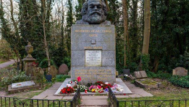 Hit Out At Karl Marx's Grave