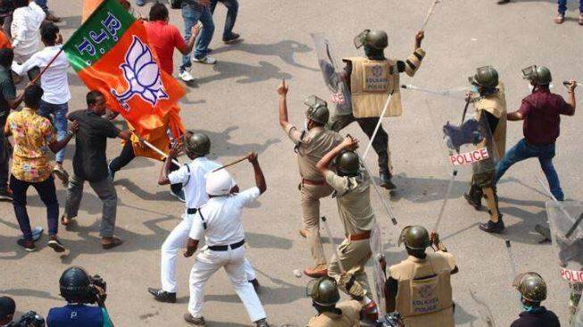 Bengal BJP Workers Lathicharged By Mamata Banerjee Govt : Everything To Know