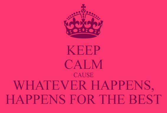 Whatever Happens Just Go With It !