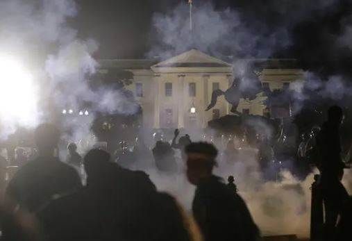 US Violent Protests Made Donald Trump Go Seeking In Bunker