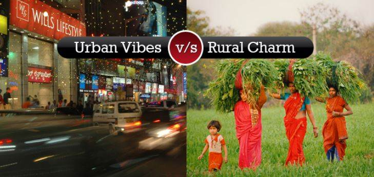 Difference Between Urban and Rural Life Of India