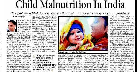 Malnutrition: Eradicating the strength of our country