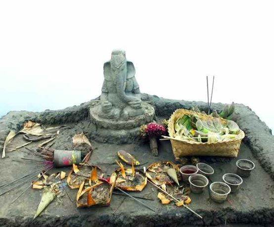 Bhagwan Ganesh On Volcano Site Is Special For Indonesia